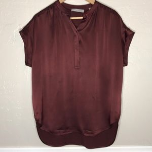 Vince Women's 100% Silk Top rust Size S